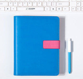 Blue A5 BINDER ONLY with Built-in Calculator • Free Washi Tape with this order