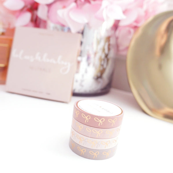 simply gilded BOX SET - 10mm bow - BLUSHBABY + rose gold foil (January 10 Release)