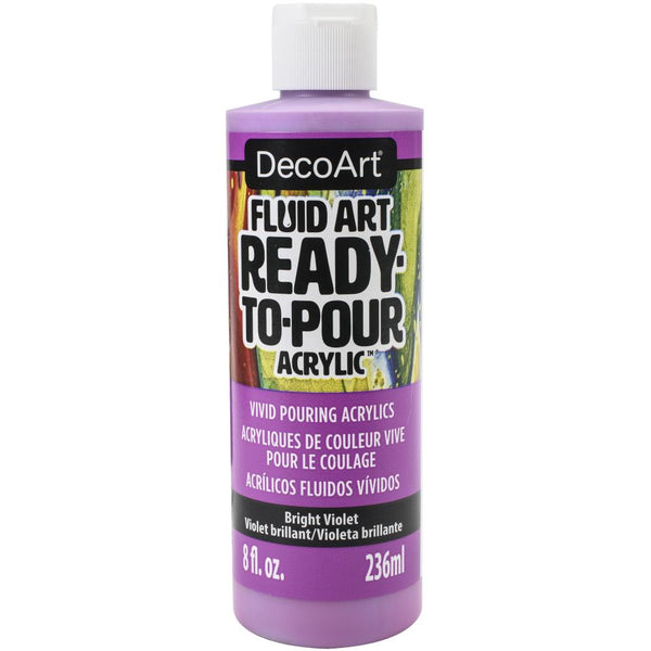 DecoArt FluidArt Ready-To-Pour Acrylic Paint Bright Violet 8oz