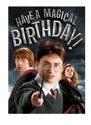Harry Potter Embossed Birthday Card - Have a magical birthday!!
