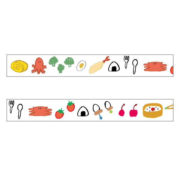 Japanese Washi Tape • Bento Box Masking Tape • chobit wit Washi Tape