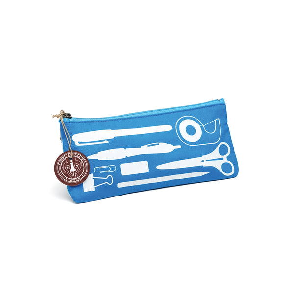 Stationery Pencil Pouch Blue