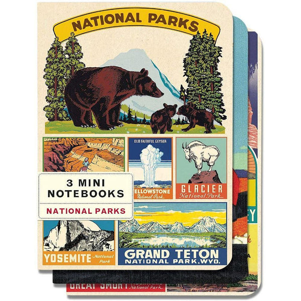 Cavallini & Co. Mini Notebook Sets National Parks 3/Pkg