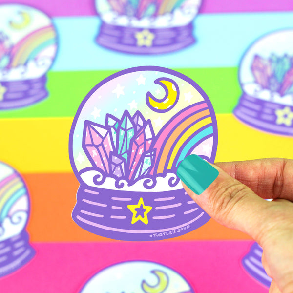 Crystal Ball Fortune Teller Vinyl Sticker (Holographic)