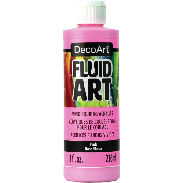 DecoArt FluidArt Ready-To-Pour Acrylic Paint Pink 8oz