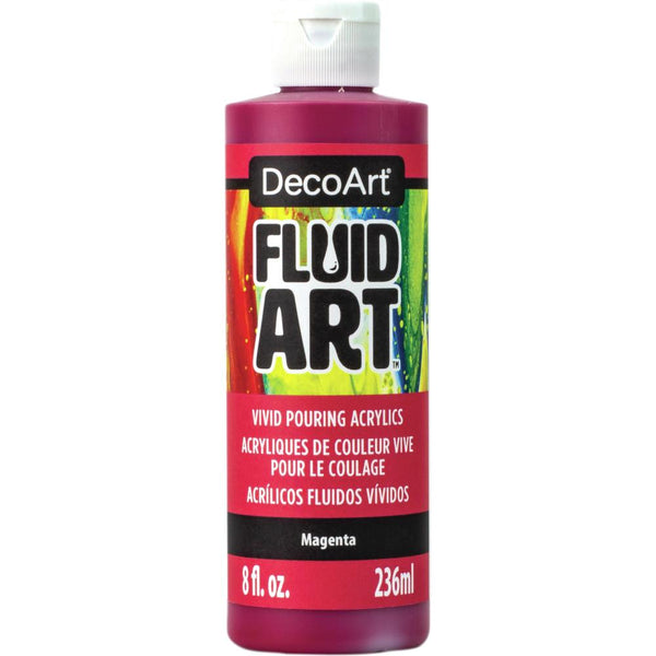 DecoArt FluidArt Ready-To-Pour Acrylic Paint Magenta 8oz