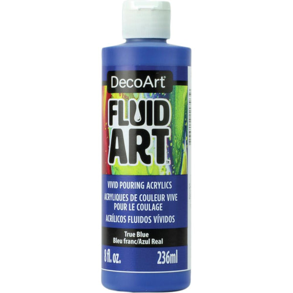 DecoArt FluidArt Ready-To-Pour Acrylic Paint True Blue 8oz
