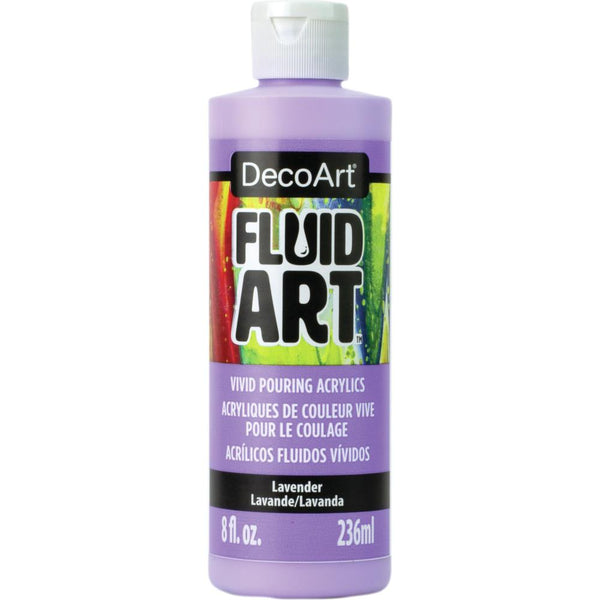 DecoArt FluidArt Ready-To-Pour Acrylic Paint Lavender 8oz