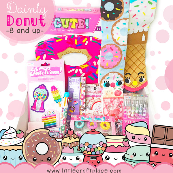 Donut Worry Be Happy - Little Craft Box for y'all donut lovers!!! Bringing just a little sweetness to your day can go a long way. With this happy box, you'll get the sweet donut-smelling goodness filled to the brim with fun activity kits and art supplies.