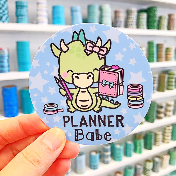 Dragon Planner Babe Vinyl Sticker