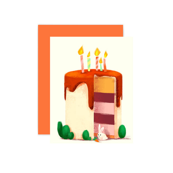 Birthday Cake Blank Card by The Little Red House