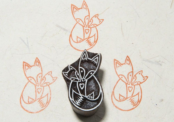 Fox Family Blockwallah Block Stamp