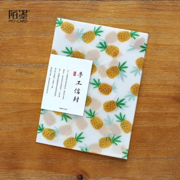Pineapple Vellum Envelope & Envelope Seals 3/Pkg