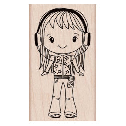 You Rock Girl Rubber Stamp