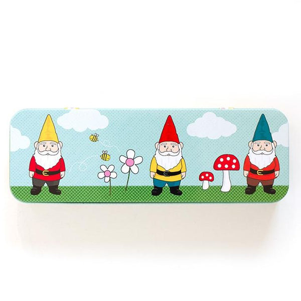 Garden Gnome metal pencil case.