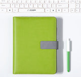 Apple Green A5 BINDER ONLY with Built-in Calculator • Free Washi Tape with this order
