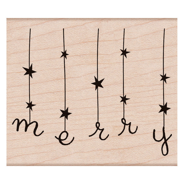 A string of stars and letters spelling out MERRY