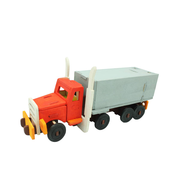 Truck 3D Wooden Puzzle with Paint Kit