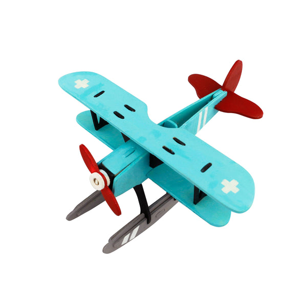 Hydroplane 3D Wooden Puzzle with Paint Kit