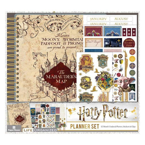 Harry Potter Marauder's Map 12 Month Planner Set