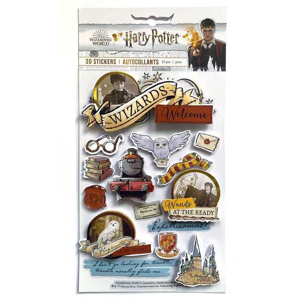 Harry Potter Watercolor Dimensional Sticker