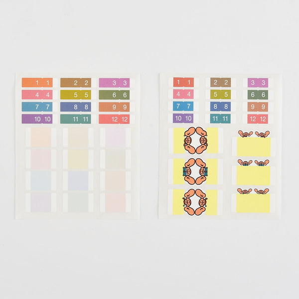 These Hobonichi Index Stickers allow you to mark particular pages of the Hobonichi Techo so that you can open up to the intended page in one go, such as the monthly calendar or the daily page.
