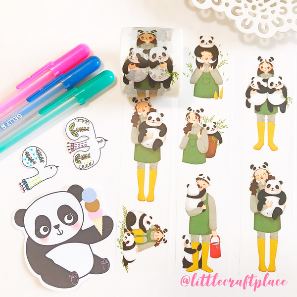 Panda Caretaker Washi Tape