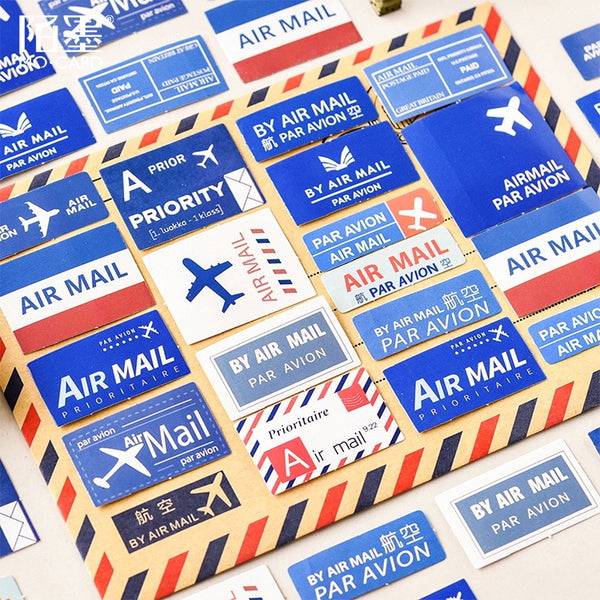 Airmail Flake Sticker Mini Box (46 pieces)