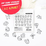 Kitty Cat Letters Alphabet Flake Stickers, about 70pcs. Fun clear stickers for any and every occasion!