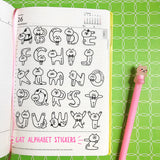 Kitty Cat Letters Alphabet Flake Stickers, about 70pcs. Fun clear stickers for any and every occasion! Use these tracing stickers every day on planner, cards, photo album, frames, gift wrap, stationery, scrapbook pages, lunch bags, calendars and more to personalize your world.