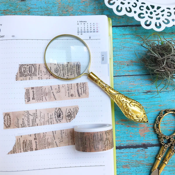 Vintage Background Washi Tape. Perfect for your travel and vacation album.