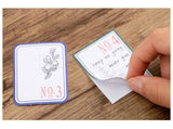 Geo Garden Label Writable Flake Sticker (30 pieces)