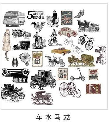Vintage Car and Transportation Flake Stickers. These vintage style flake stickers for any and every occasion! T
