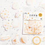 Geometry Celestial Washi Flake Stickers