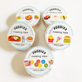 Foodies washi tape Mind Wave Masking Tape Restaurant Meals including Egg fried rice, salad, chicken teriyaki, steak, desserts and many more, made in Japan.