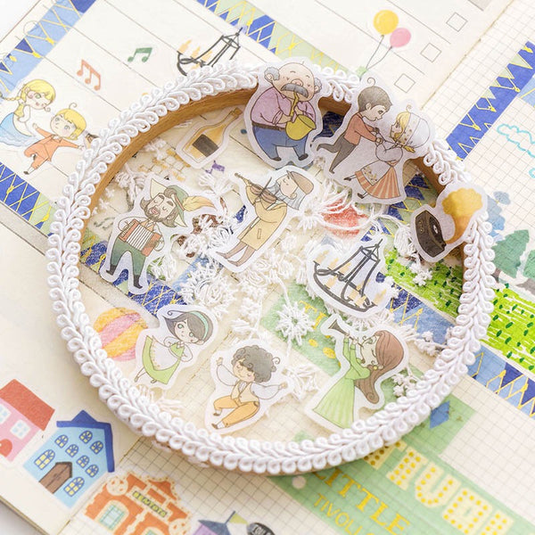 Villager Washi Flake Sticker (40 pieces)