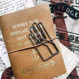 Vintage Large Hand Paper Clip Metal Bookmark. Perfect for Traveler's Notebook