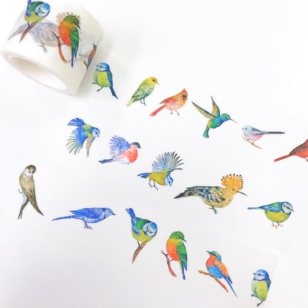 Bird Washi Tape like hummingbird, sparrow, cardinal bird and etc. Perfect for your holidays spreads and card making.