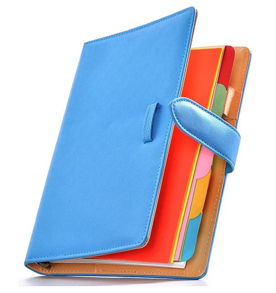 Light Blue A5 Planner Binder. Need a fun way to keep track of your hectic schedules or simply a fun junk journal for memory keeping? They are perfect to store and organize your sticker collection too!