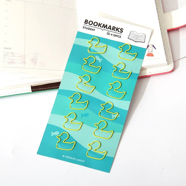 Duck Paper Clips. Use to embellish crafts or as a functional supply. Use as an accent on paper edges, attach vellum overlays by clipping at corners or simply use as a paper clip.