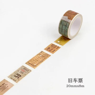 Old Ticket Washi Tape