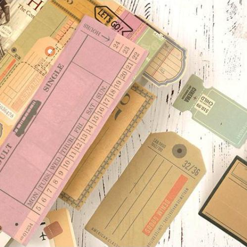 Old Ticket Notepaper (32 pieces)