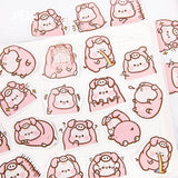 Pig Flake Sticker Mini Box (45 pieces)