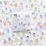 Daily Life People Flake Sticker (200 pieces)