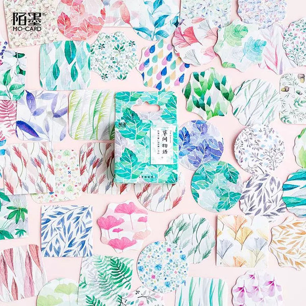 Abstract Botanical Sticker Mini Box (45 pieces)