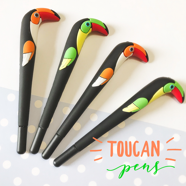 These Toucan pens are perfect for planning, for work, home, desk or for school. They will be a beautiful addition to your pen collection!