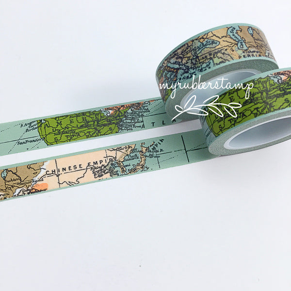 Travel World Map Washi Tape