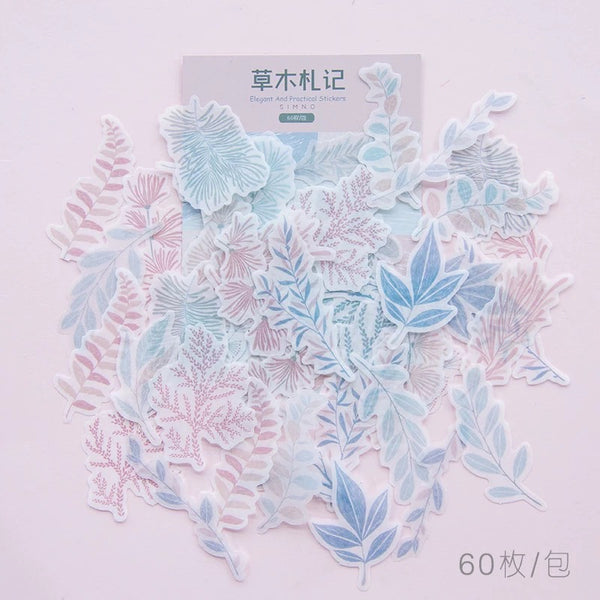 Plant Elements Washi Flake Sticker (60 pieces)