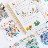 Plant World Washi Flake Sticker (40 pieces)