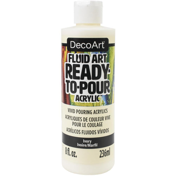 DecoArt FluidArt Ready-To-Pour Acrylic Paint Ivory 8oz